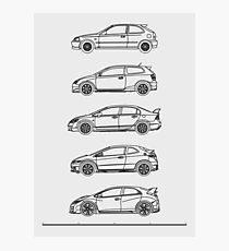 Civic Type R Evolution Photographic Print