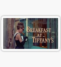 Breakfast at Tiffany's Title Screen Sticker