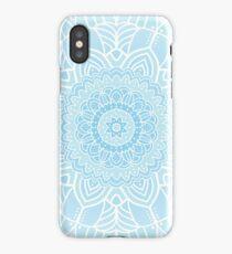 Blue ornamental background iPhone Case