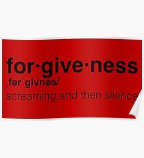 Llamas with Hats // forgiveness // Carl Poster