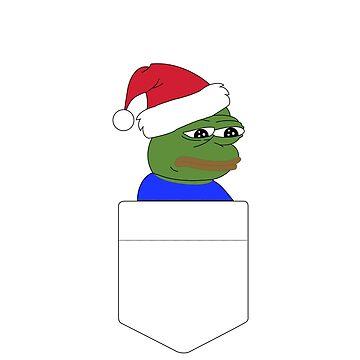 Christmas Pepe The Frog Pocket Tee by Jake526