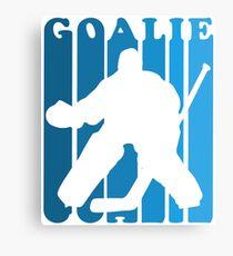 Retro 1980's Style Hockey Goalie Silhouette T-Shirt Goalie Hockey Sport  Canvas Print