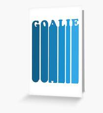 Retro 1980's Style Hockey Goalie Silhouette T-Shirt Goalie Soccer Hockey Sport Lacrosse Greeting Card