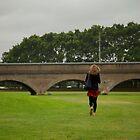 Walking girl by Geoffrey Fighiera