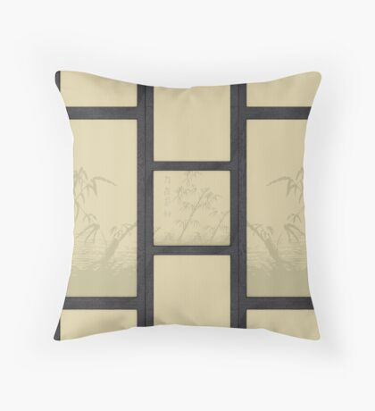 Tatami - bamboo Throw Pillow