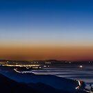 Early Morning in Santa Barbara (from Gaviota Peak) by Brian Haidet