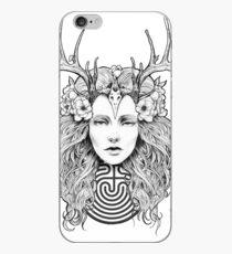 Horned Goddess by Juliana Loomer iPhone Case