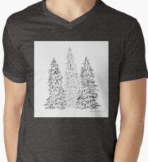 christmas tree Mens V-Neck T-Shirt