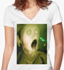 Creature #2 Women's Fitted V-Neck T-Shirt