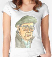Anciano Portugués Camiseta entallada de cuello redondo
