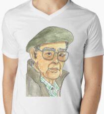 Anciano Portugués Camiseta para hombre de cuello en v