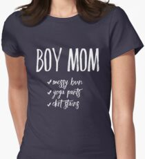 Boy Mom Womens Fitted T-Shirt