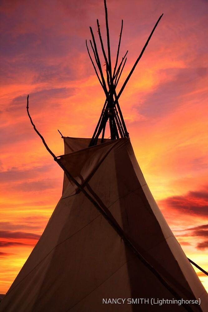 Teepee Sunset by NANCY SMITH (Lightninghorse)