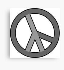 lambda peace gray Canvas Print