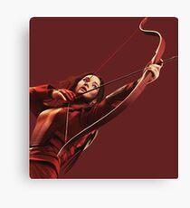 RED MOCKINGJAY Canvas Print