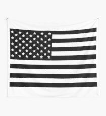 AMERICAN FLAG BLACK Wall Tapestry