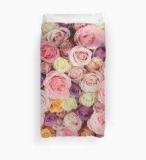 Pastel roses by TheRosegarden Duvet Cover