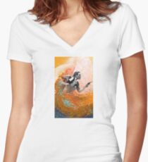 Waimea Ward and the Hurricane Women's Fitted V-Neck T-Shirt