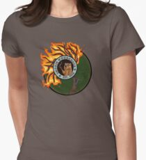 Smoking Woodchuck Womens Fitted T-Shirt