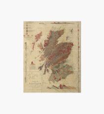 Lámina rígida Mapa geológico de la vendimia de Escocia