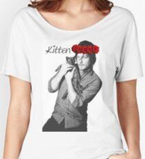 Daryl Dixon kitten flower crown Women's Relaxed Fit T-Shirt