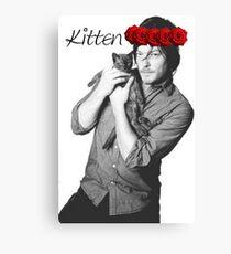 Daryl Dixon kitten flower crown Canvas Print