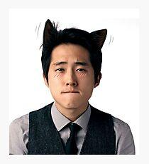Steven Yeun Glenn Rhee kitten Photographic Print