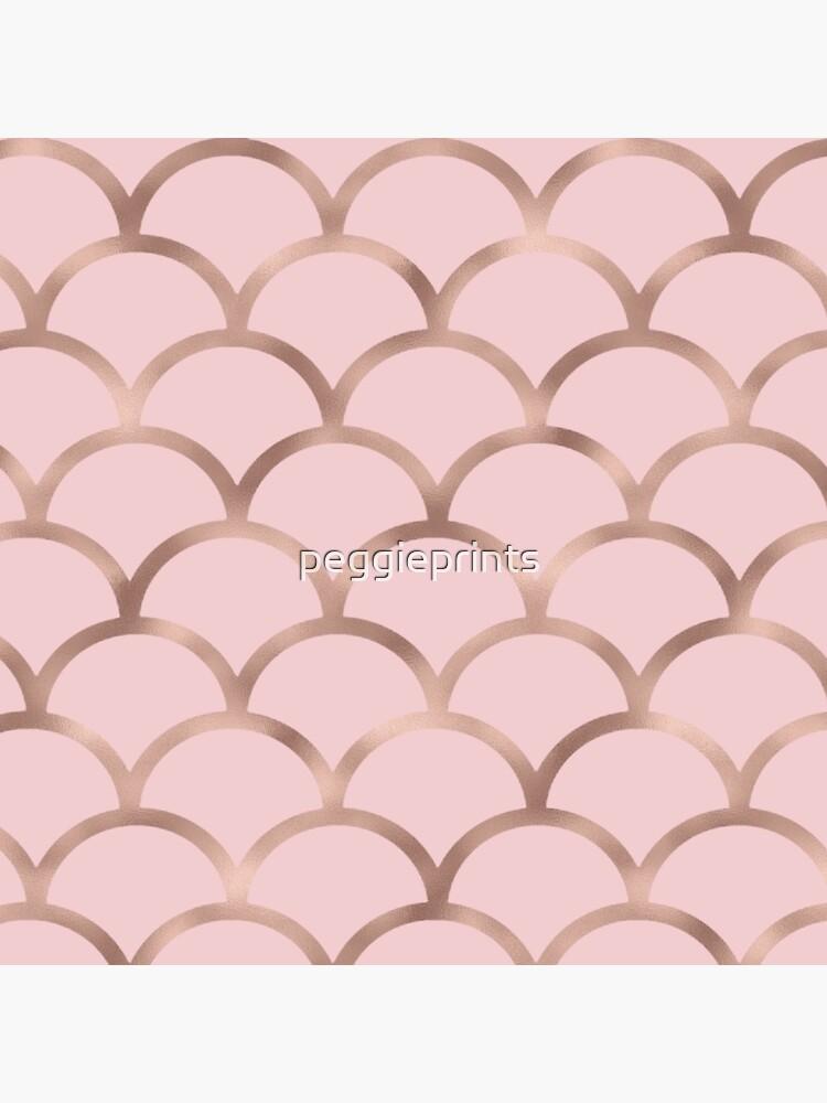 Escamas de sirena de oro rosa de peggieprints