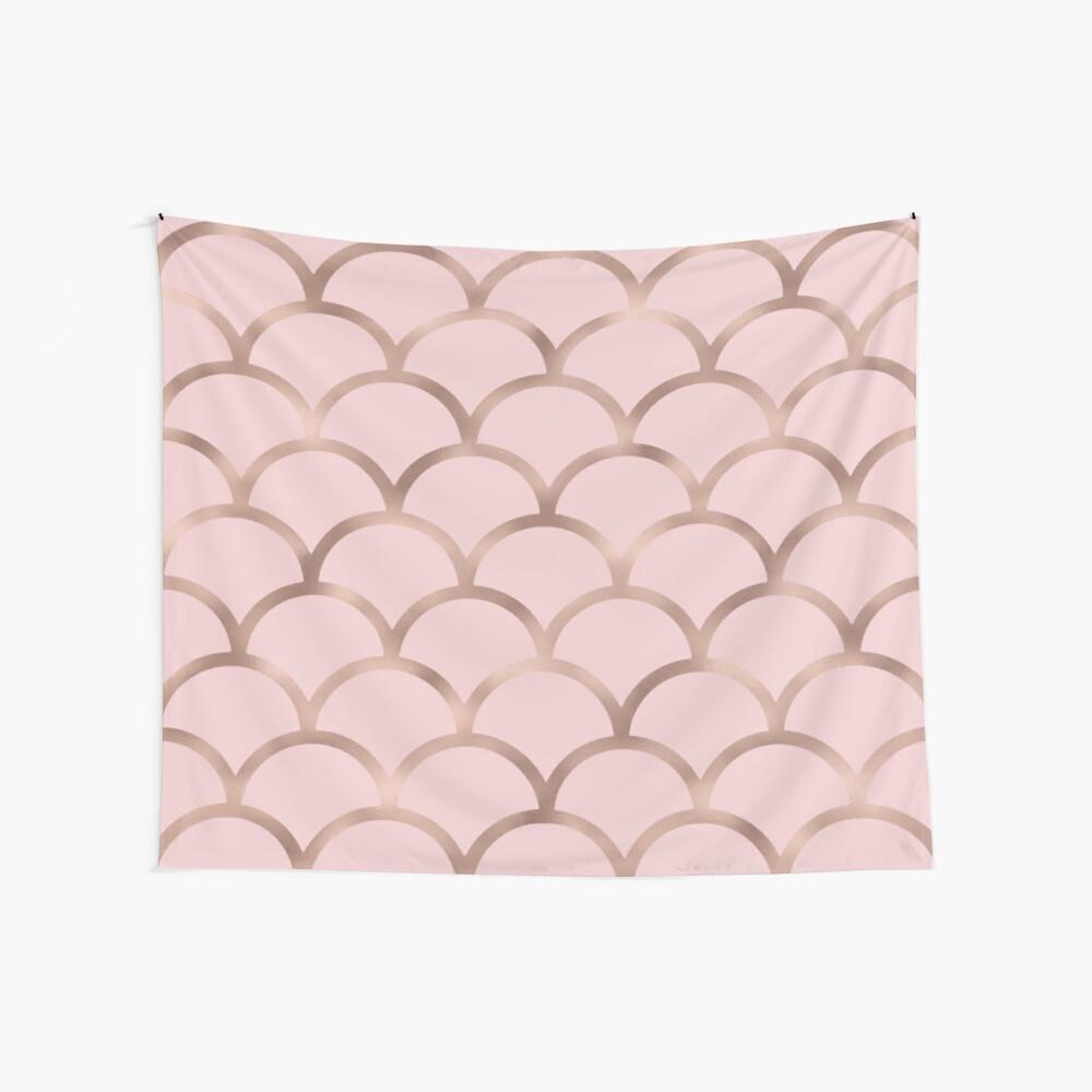 Escamas de sirena de oro rosa Tela decorativa