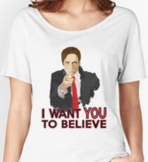 Mulder I Want To Believe Women's Relaxed Fit T-Shirt