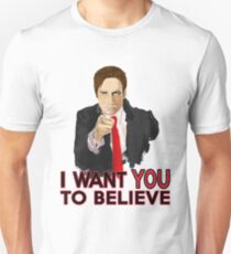 Mulder I Want To Believe T-Shirt