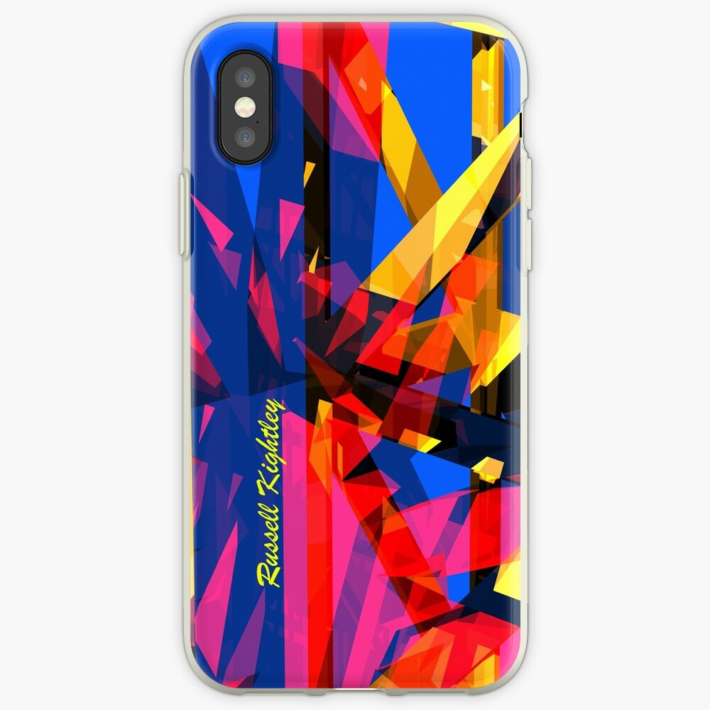 Shatter City Blue Tower iPhone Cases & Covers