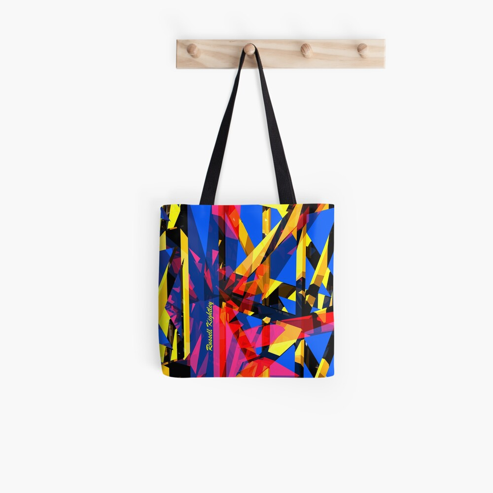 Shatter City Blue Tower Tote Bag