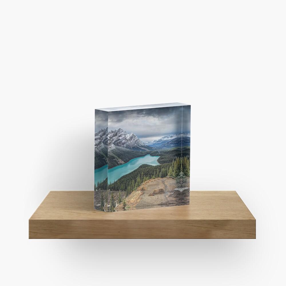 Lake Peyto Acrylic Block