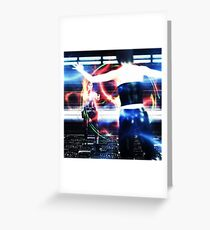 3d woman shooting Greeting Card
