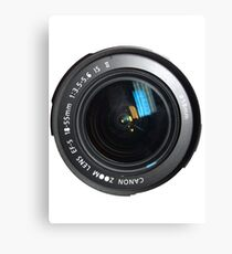 Camera Close Up Lens Canvas Print