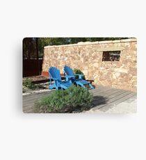 Blue Seat in Sun Canvas Print