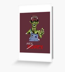 Undead neck Greeting Card