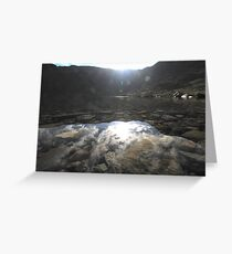 levers water reflection, lake district, coniston Greeting Card