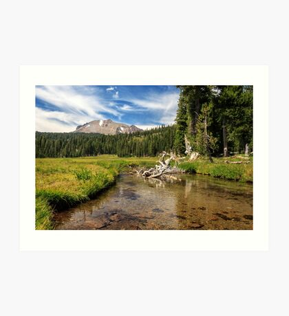 Mount Lassen And Kings Creek Art Print