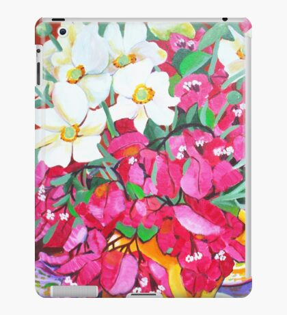 Yellow Jug with Bougainvillia iPad Case/Skin