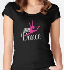 This Girl Loves to Dance Women's Fitted Scoop T-Shirt