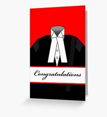 Male Barrister Congratulations Illustration Greeting Card