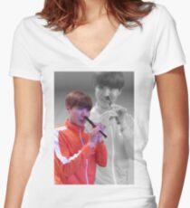 JHOPE FLUTE - FLASHBACK VER Women's Fitted V-Neck T-Shirt