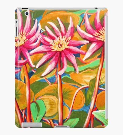 Pink Waterlillies  iPad Case/Skin