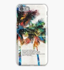 Colorful Palm Trees - Returning Home - By Sharon Cummings iPhone Case/Skin