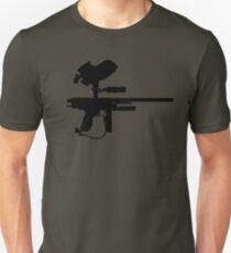 Black Paintball Marker Unisex T-Shirt