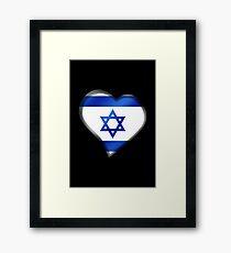 Israeli Flag - Israel - Heart Framed Print