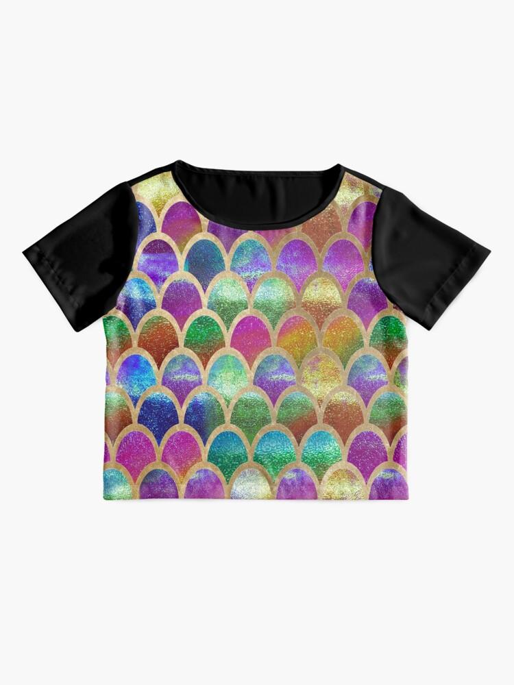 Alternate view of Rainbow mermaid scales Chiffon Top