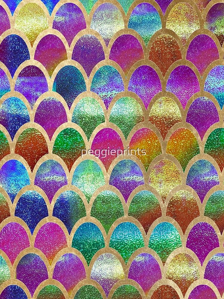 Rainbow mermaid scales by peggieprints